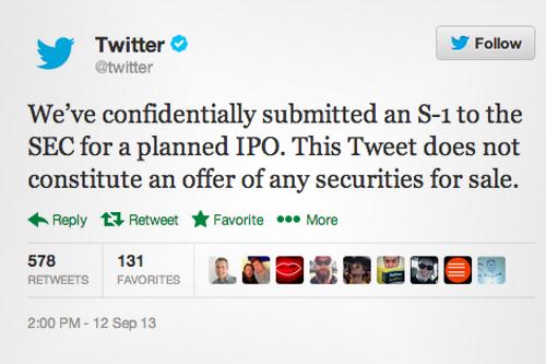twitter IPO beursgang